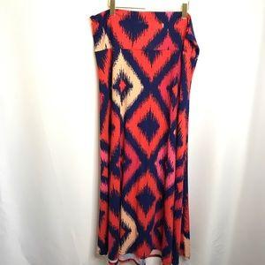 LuLaRoe Geometric Diamond Pattern Skirt 3XL